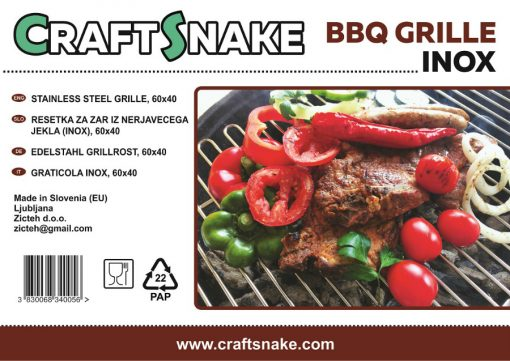 Craftsnake grill sticker