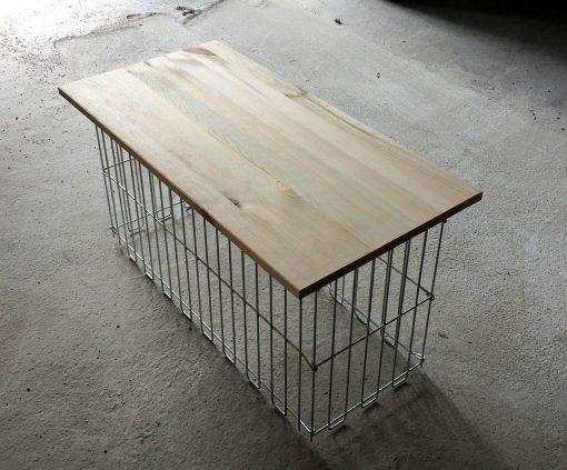 Gabion bench sideways