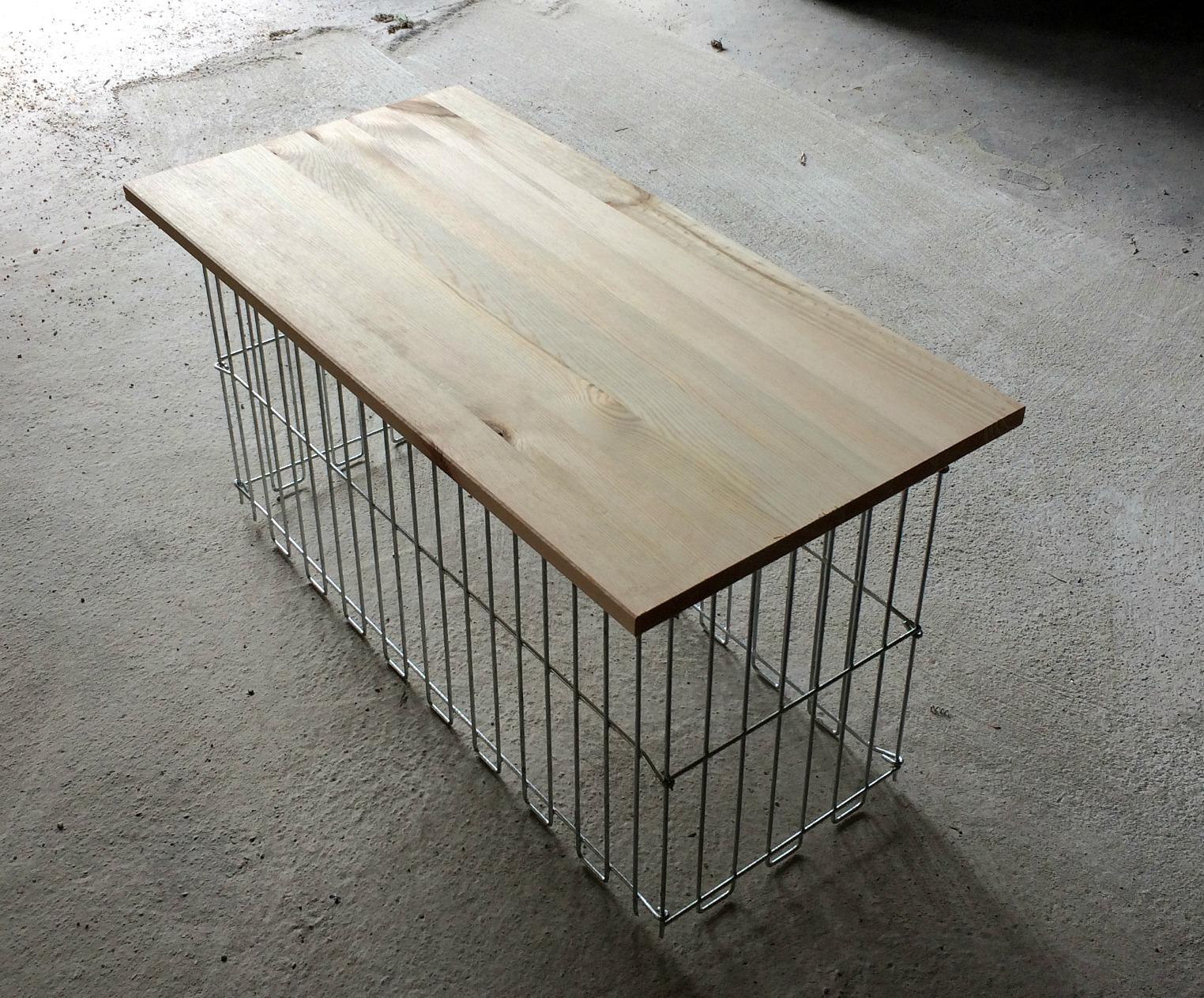 лавочка (скамейка) из габиона